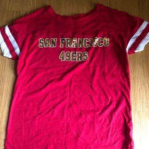 Victoria's Secret pink 49ers tee